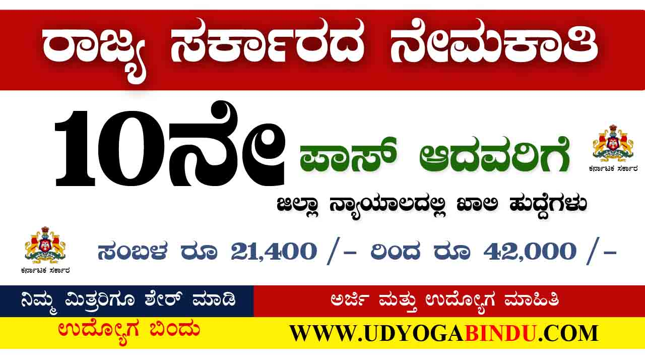 Karnataka Latest Jobs 2020