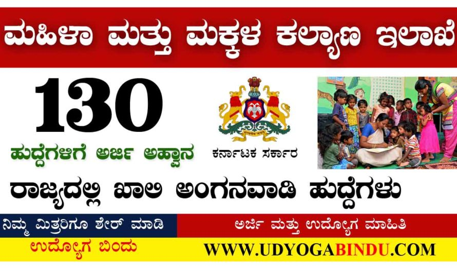 Anganawadi WCD Recruitment 2020-Apply Online for 130 Posts